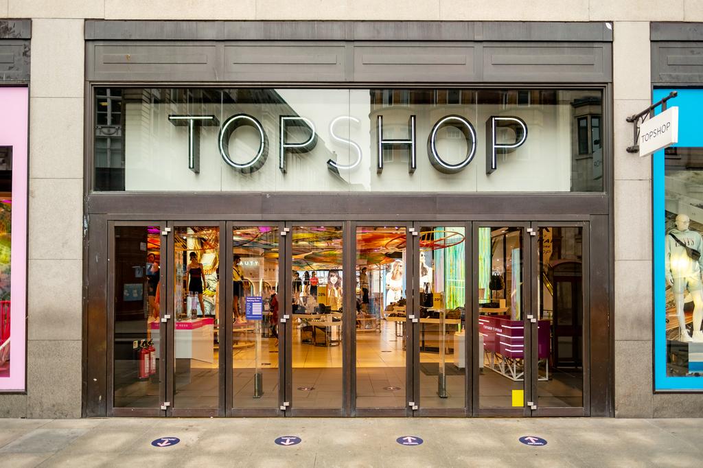 חנות הדגל של טופשופ ברחוב אוקספורד לונדון