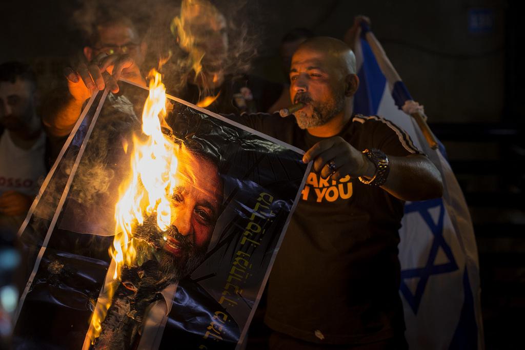 הפגנה נגד מבקשי המקלט האפריקאים ומדיניות הממשלה כלפיהם, דרום תל אביב אוגוסט 2018