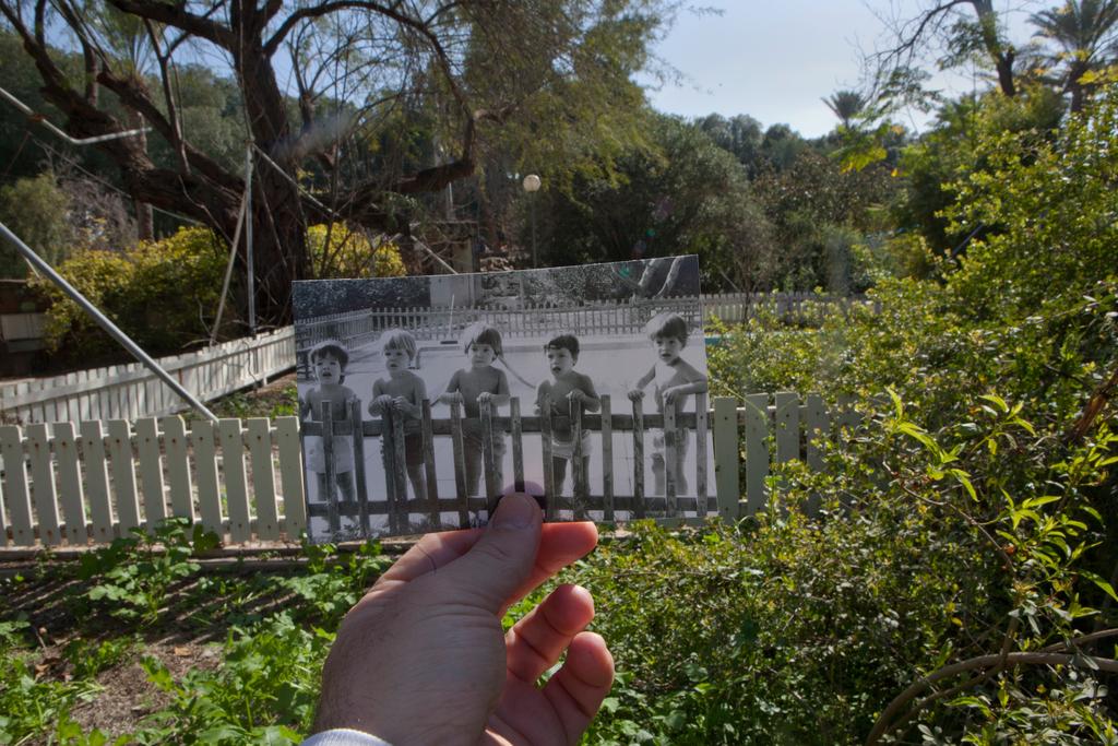 הצלם עמית שעל וחבריו לפעוטון קיבוץ כפר רופין, קיץ 1976- חורף 2014