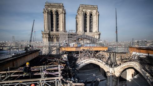 שנתיים אחרי השריפה בפריז: חיזוק קתדרלת נוטרדאם הסתיים, עכשיו יתחיל השחזור