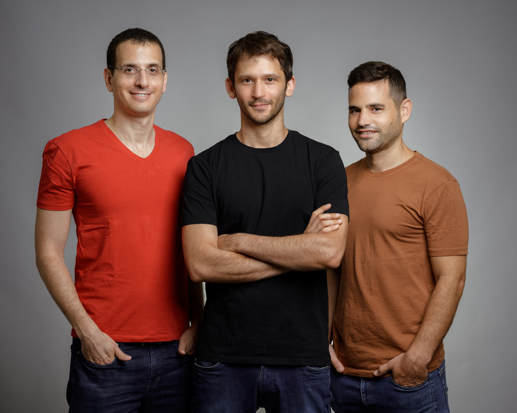 מייסדי GrowthSpace מימין: יצחק קידר, עומר גלס, דן טרנר