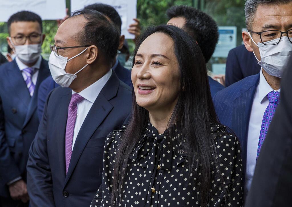"""מנג וואנזו סמנכ""""לית הכספים של וואווי שנעצרה בקנדה ב2018 אחרי ששוחררה ממעצר בספטמבר 2021"""