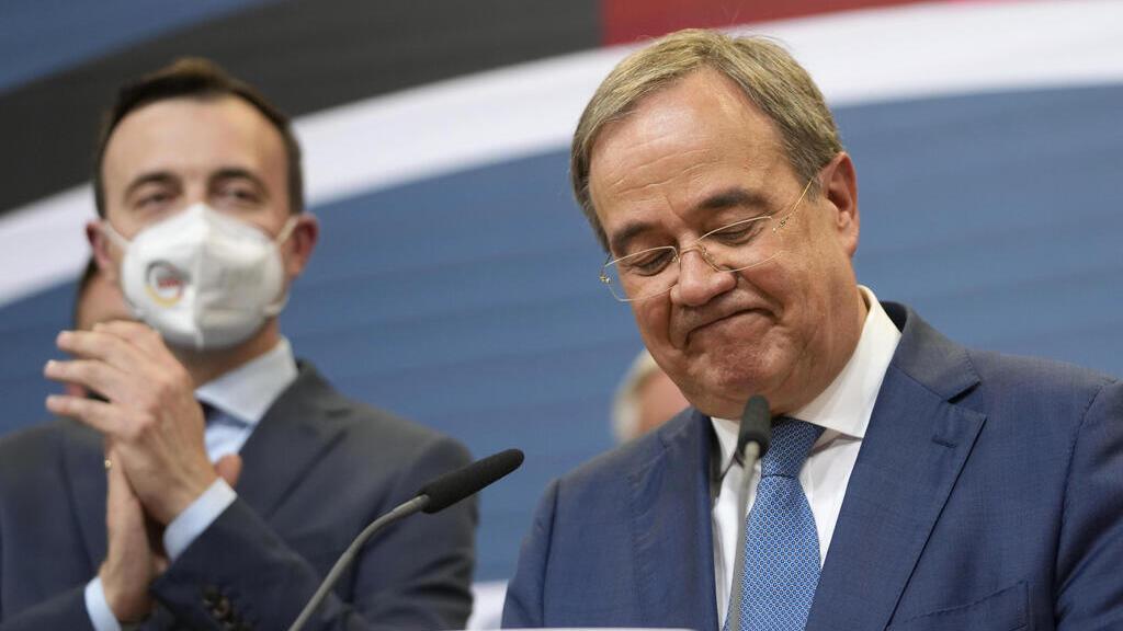 מועמד ה-CDU ארמין לאשט ביום הבחירות
