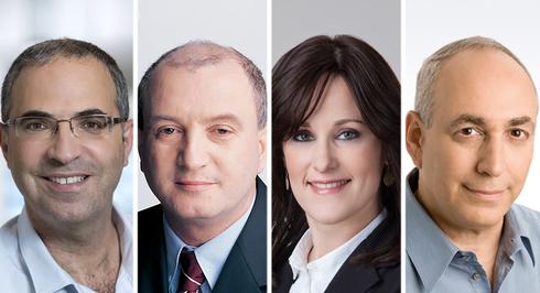 משתתפי הפאנל. מימין: חמי פרס, מירי יוסקוביץ, דניאל זייפמן, ישי פרנקל,