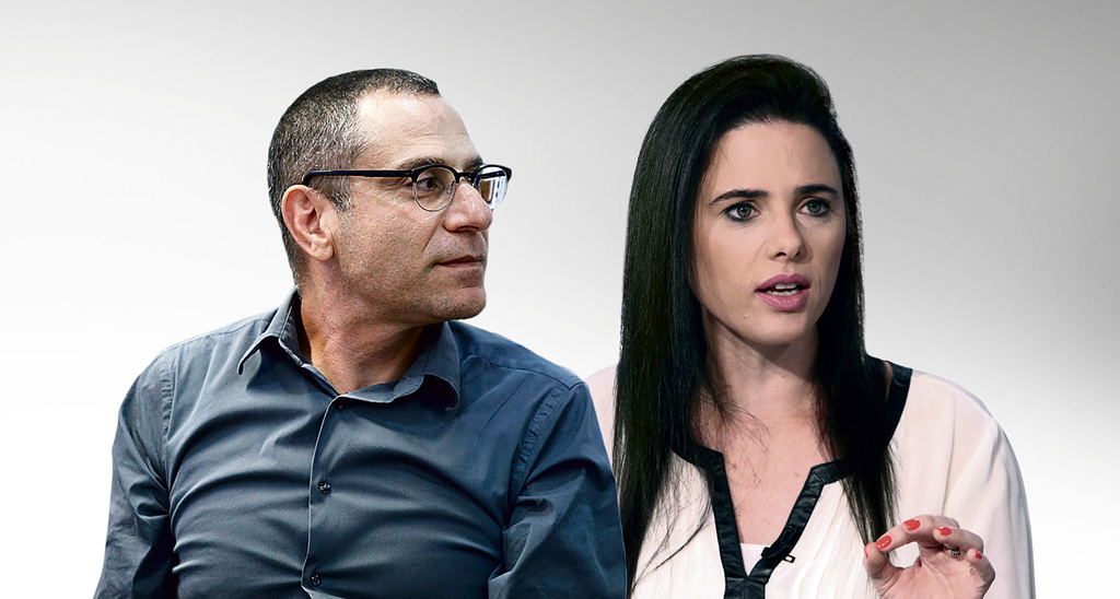 מימין שרת הפנים איילת שקד ומנהל רשות המיסים ערן יעקב