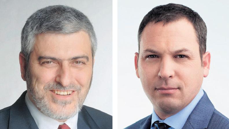 """מימין: מנכ""""ל אל על אביגל שורק ומנכ""""ל בנק הפועלים דב קוטלר"""
