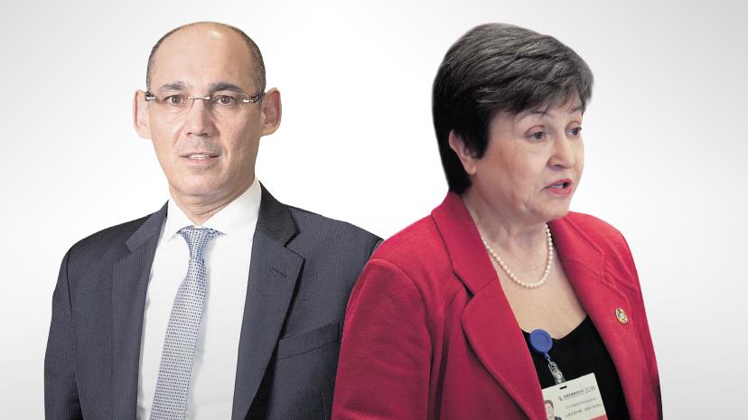 """יו""""רית קרן המטבע קריסטלינה גיאורגייבה ונגד בנק ישראל פרופ' אמיר ירון"""