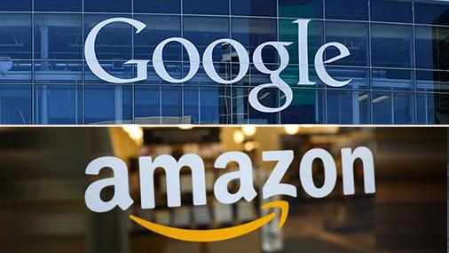 גוגל אמזון לוגו,  צילום: רויטרס , youtube