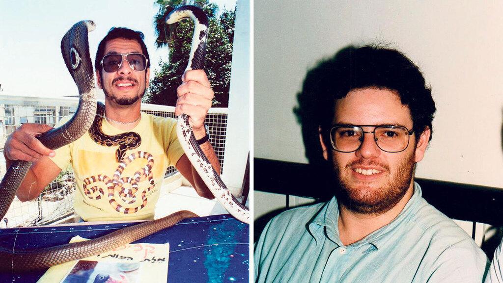 """מימין הראל הרשטיק הרוצח וסמנכ""""ל הטכנולוגיות המיועד והנרצח יעקב סלע לוכד הנחשים,"""