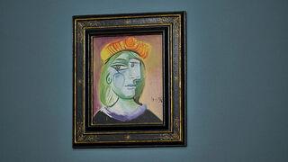 ציור של פיקאסו אישה עם בארט Femme au Béret Rouge-Orange מכירה פומבית ש