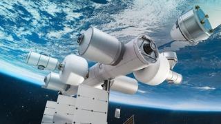 הדמיה של תחנת החלל הפרטית שמתכוונת להקים בלו אוריג'ין של ג'ף בזוס