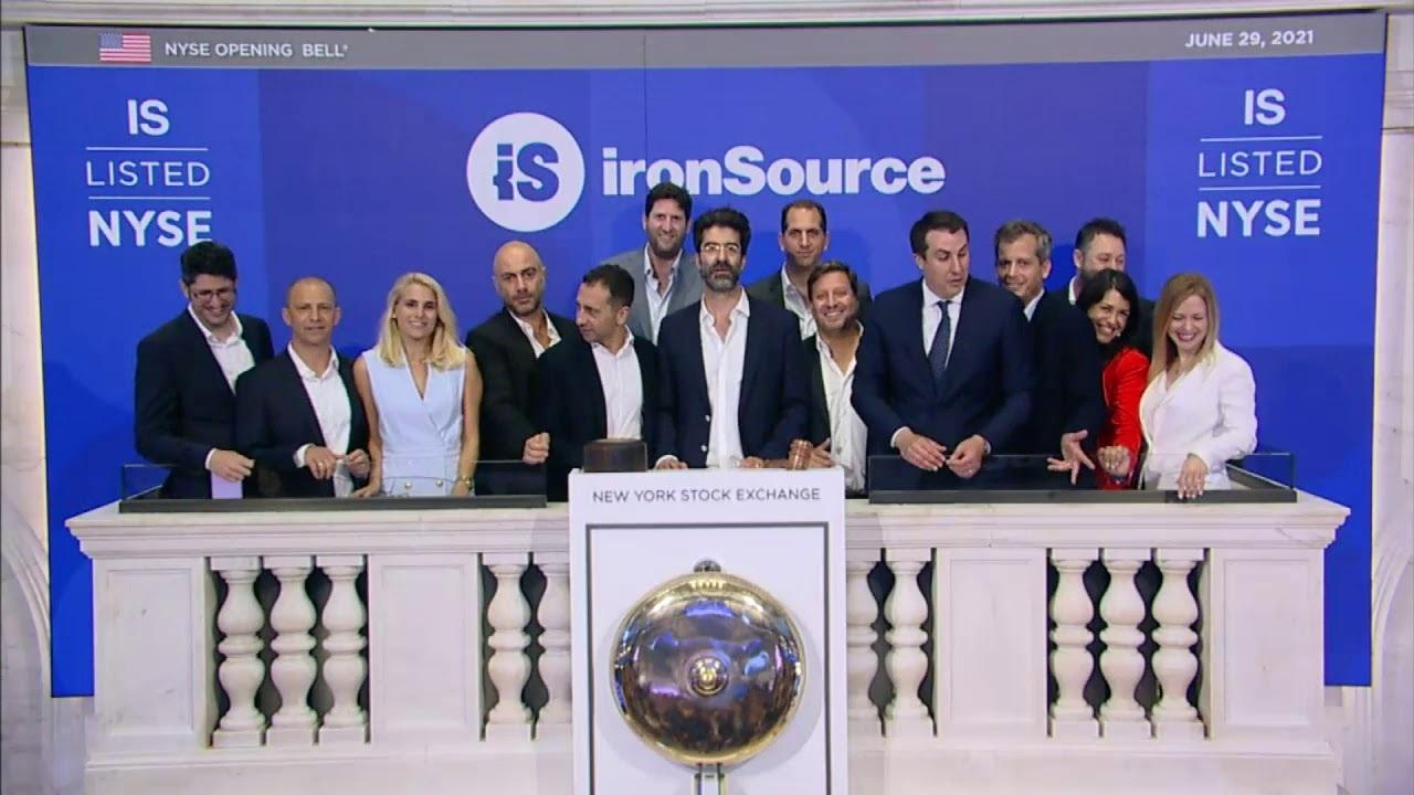 ironSource managment at the New York Stock Exchange Photo: YouTube screenshot