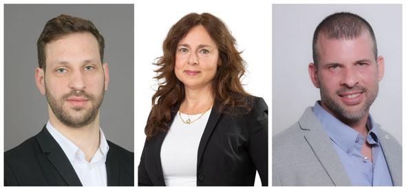 Eyal Hoffman, Adv. Gail Etzion, and Ran Tzror. Photo: Israel Hadari, Studio Thomas, and Tal Cohen